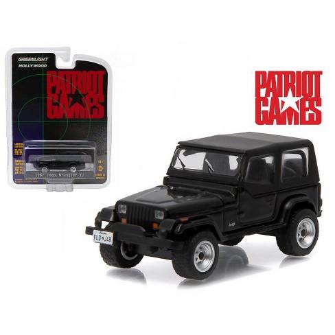 "1987 Jeep Wrangler YJ Black ""Patriot Games"" Movie (1992) 1/64 Diecast Model Car by Greenlight - image 1 of 1"