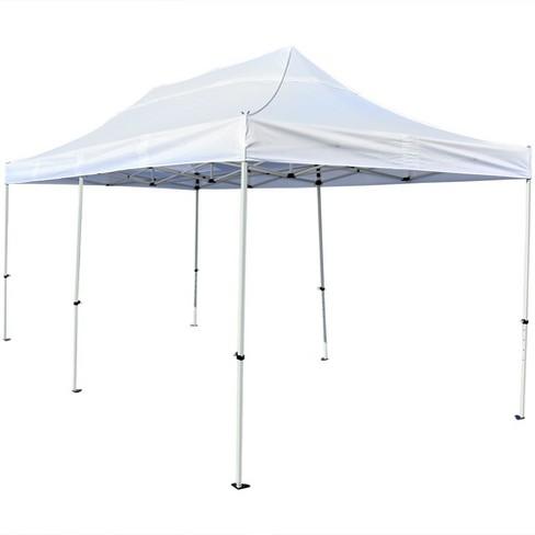 Quick Up 10 X 20 White Instant Pop Canopy Party Tent Sunnydaze Decor Target
