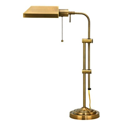 "22"" x 26"" Adjustable Metal Pharmacy Table Lamp Antique Brass - Cal Lighting"