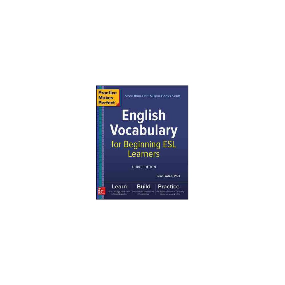 English Vocabulary for Beginning Esl Learners (Paperback) (Jean Yates)