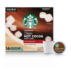 Starbucks Classic Hot Cocoa - Keurig K Cup Pods - 16ct