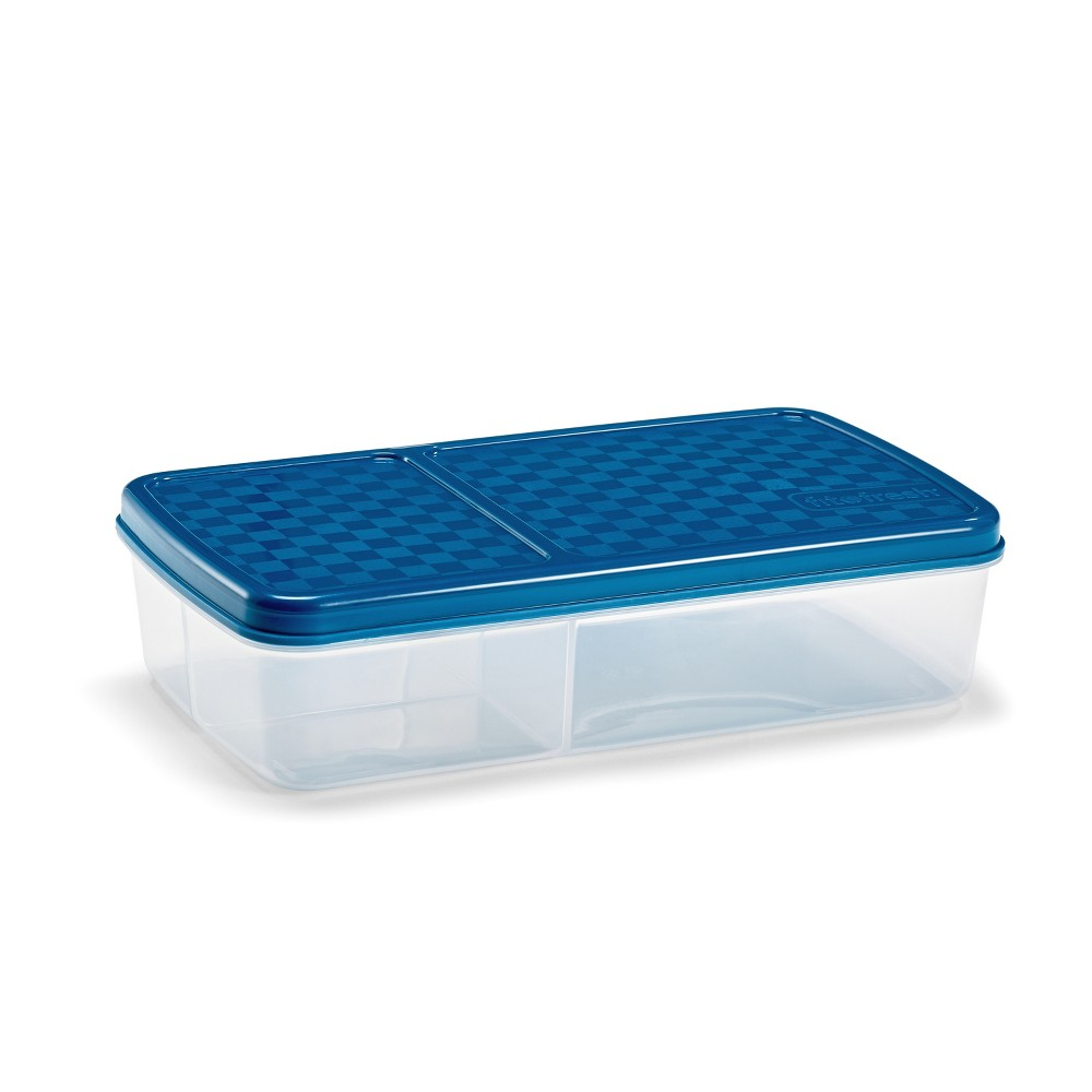Image of Fit & Fresh Meal Carrier - 4pc, Clear Blue
