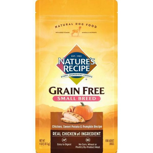 Nature's Recipe Grain Free Chicken, Sweet Potato & Pumpkin Recipe Small Breed Adult Dry Dog Food - image 1 of 3