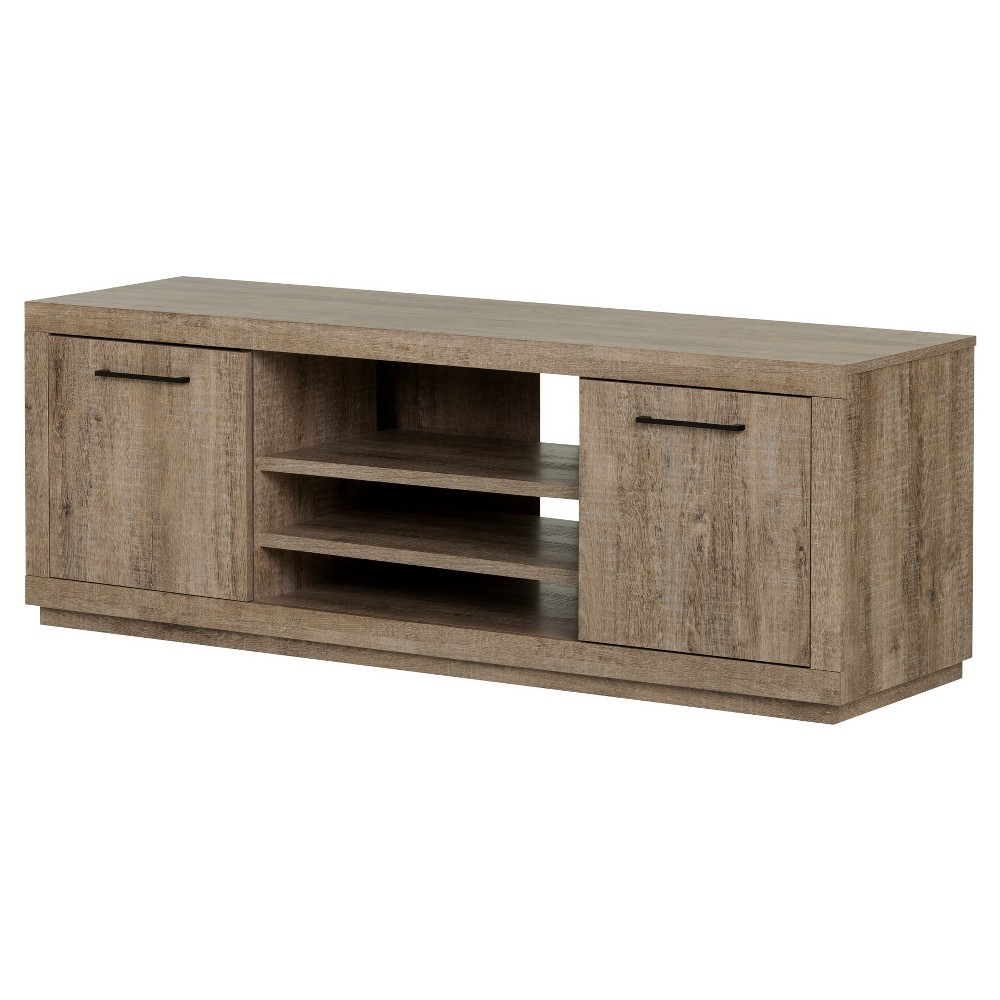 Kanji TV Stand For TVs Up To 60'' - Weathered Oak - South Shore