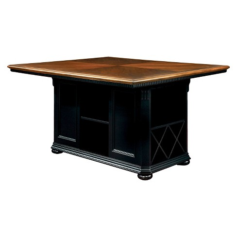 Sun Pine Martha Country Storage Counter Height Table Cherry And