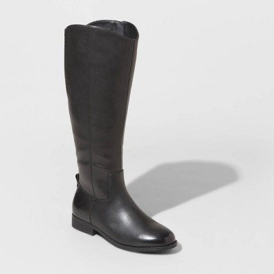 Women's Brisa Faux Leather Riding Boots - Universal Thread™ Black 6.5
