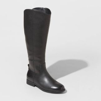 Women's Brisa Faux Leather Riding Boots - Universal Thread™ Black 7