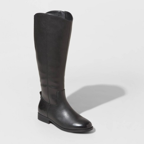 Women's Brisa Faux Leather Riding Boots - Universal Thread™ - image 1 of 3