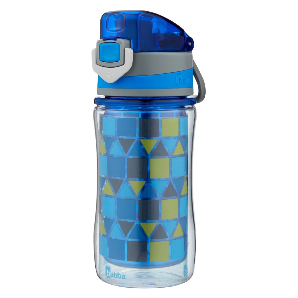 Image of Bubba 12oz Flo Plastic Insulated Water Bottle Blue/Green