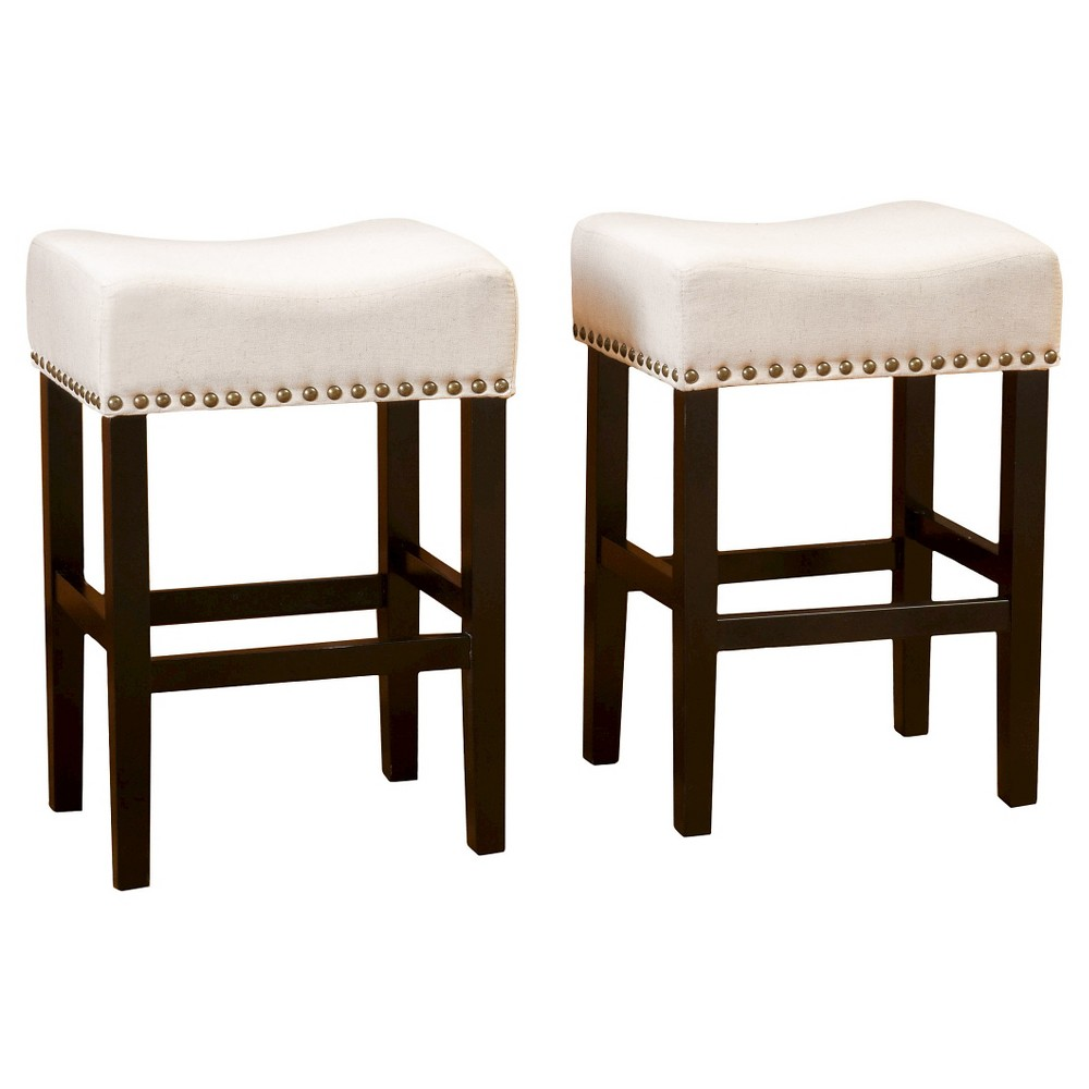 26 Laramie Counter Stool Beige (Set of 2) - Christopher Knight Home