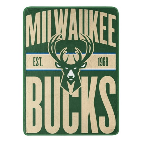 NBA Milwaukee Bucks Micro Fleece Throw - image 1 of 2