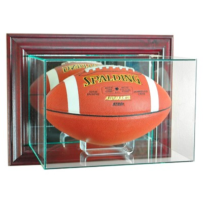 Perfect Cases - Wall Mounted Football Display Case - Cherry Finish