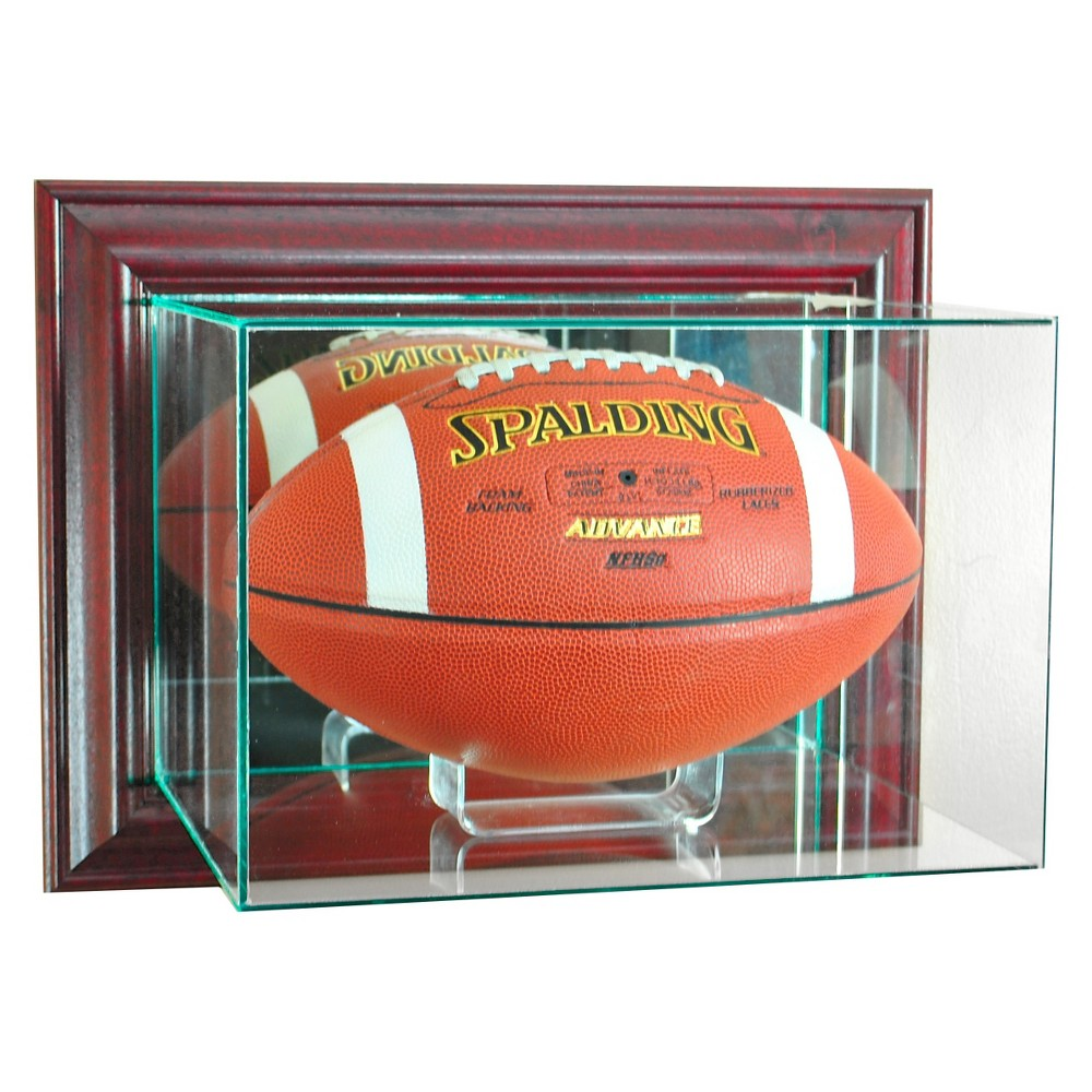 Perfect Cases Wall Mounted Football Display Case Cherry Finish