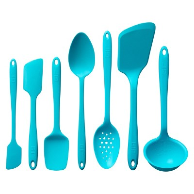 GIR Ultimate Silicone Kitchen Tool 7pc Set Teal