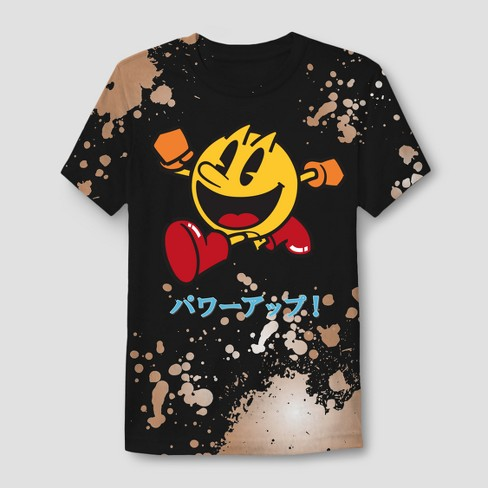 Men's Pac-Man Short Sleeve Graphic T-Shirt - Black - image 1 of 1