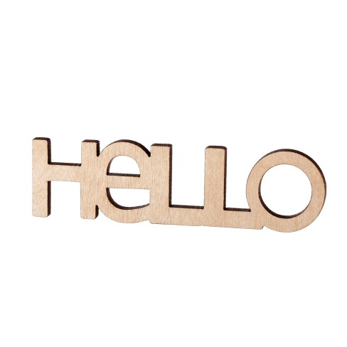 Small Wood Hello - Hand Made Modern® - image 1 of 1