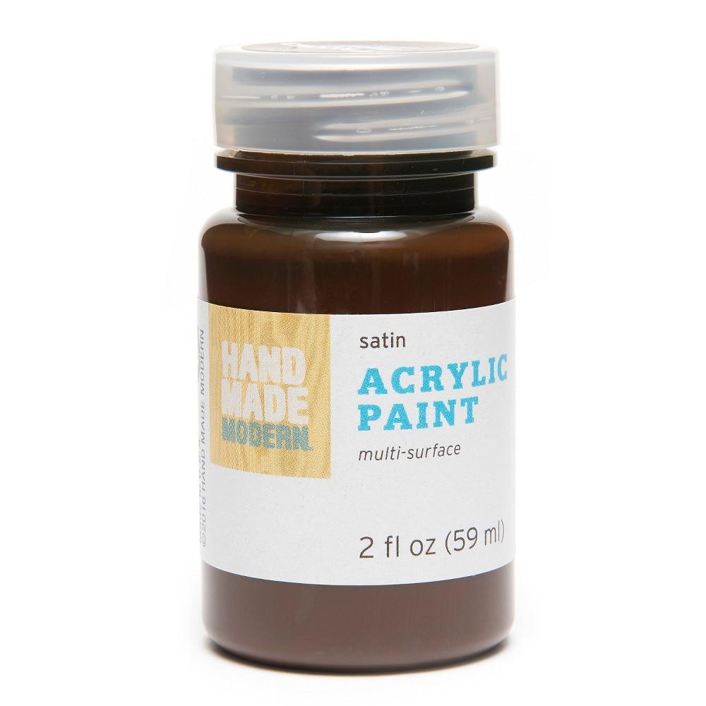 Hand Made Modern - 2oz Satin Acrylic Paint - Dark Chocolate