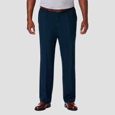 Haggar Men's Big & Tall Cool 18 PRO Classic Fit Pleat Casual Pants