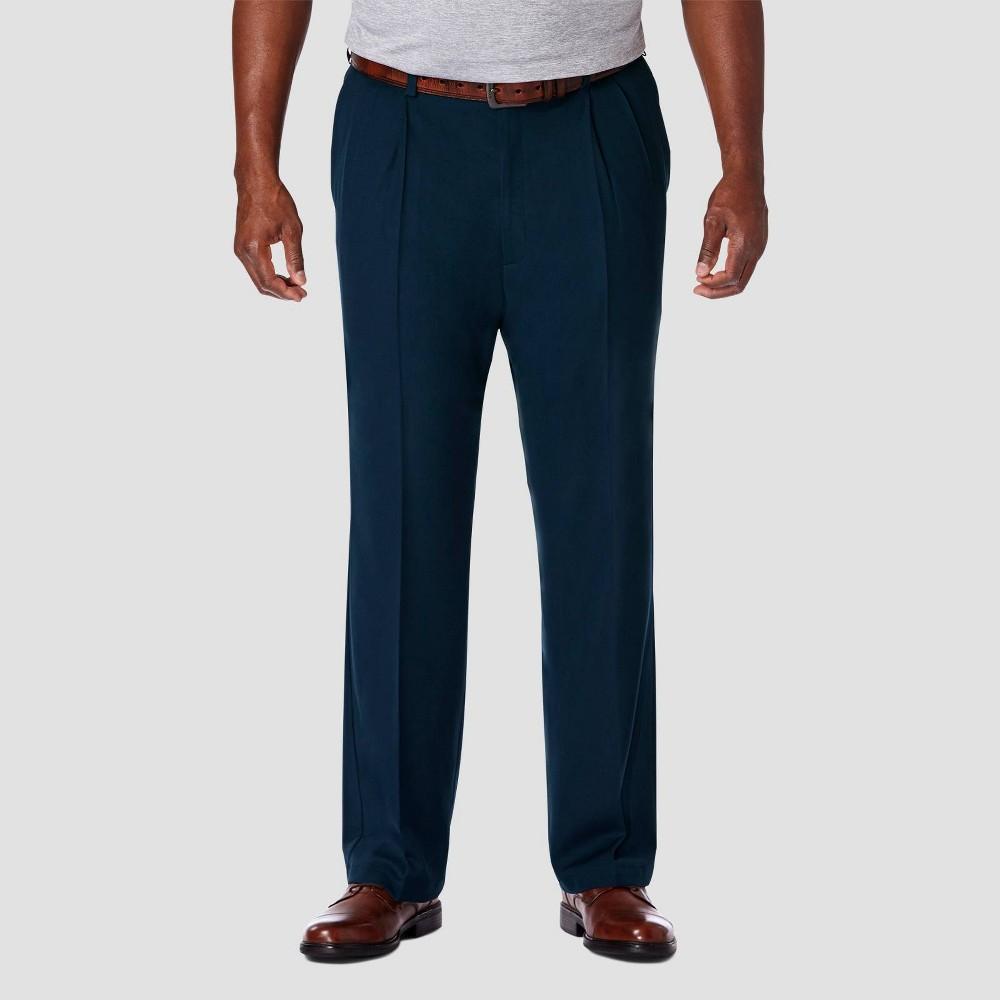 Compare Haggar Men's Big & Tall Cool 18 PRO Classic Fit Pleat Casual Pants -