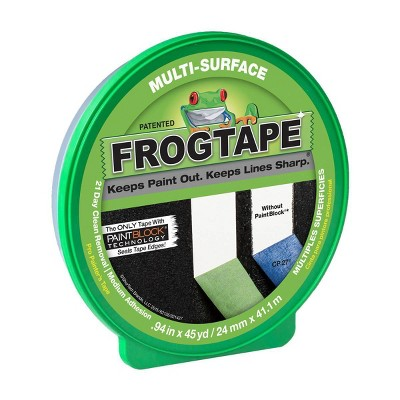 "FrogTape 0.94""x45yd Multi Surface Painting Industrial Tape Green"