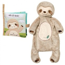 Cuddle Toys Silly Little Sloth Shhlumpie and Crinkle Cloth Book Set