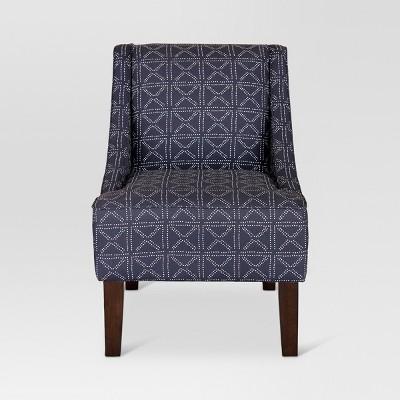 Merveilleux Hudson Swoop Arm Chair   Geo Dot Indigo   Threshold
