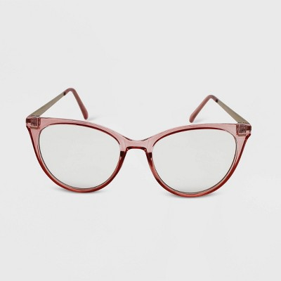 Women's Crystal Cateye Blue Light Filtering Glasses - Wild Fable™ Pink