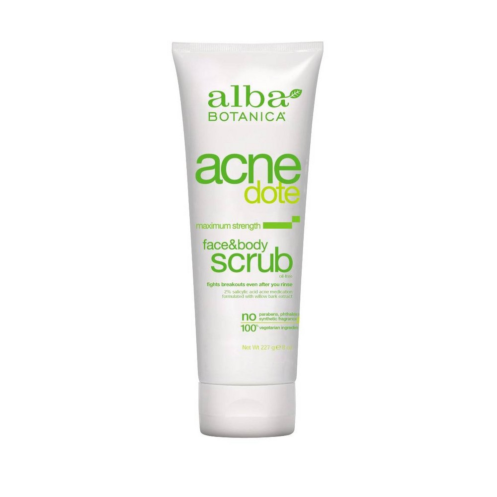 Banish those breakouts with nature's answer to acne. Clinically tested, ACNEdote skincare features willow bark extract, maximum strength 2percent salicylic acid, aloe and chamomile to reduce inflammation and fight prime acne perpetrators like dirt, oil and pore-plugging dead skin cells. Our beautifying botanicals zap zits on contact so skin is left clear, soft and smooth – never tight or irritated. Since 1979, Alba Botanica has offered 100percent vegetarian personal care products that do beautiful for you, your friends and the animals and Earth you love. We make a full range of products packed with potent, botanical ingredients that are formulated to nourish the individualized needs of your skin and hair. Because we are committed to the health and happiness of all furry friends, we never test our products, or the ingredients that go into them, on animals. Gender: unisex.