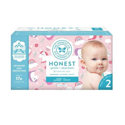 Honest Company Chasing Unicorns Club Pack Diapers - Size 2 (76ct)