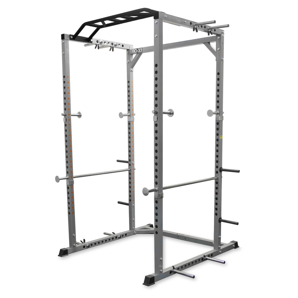 Valor Fitness BD-33 Heavy Duty Power Cage with Band Pegs and Multi-Grip Chin-Up