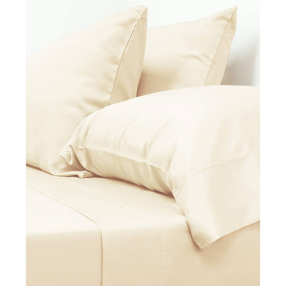 Image of California King 100% Viscose from Bamboo Classic Sheet Set Ivory - Cariloha