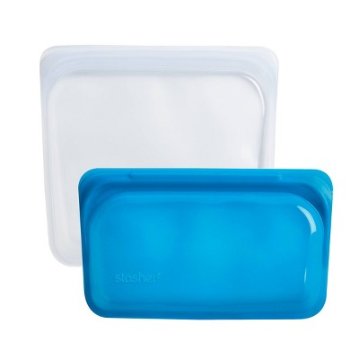 Stasher Sandwich & Snack Duo Container - 2ct