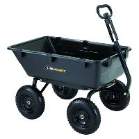 Deals on Gorilla Carts Heavy-Duty Poly Yard Dump Cart w/2 In 1 Convertible Handle