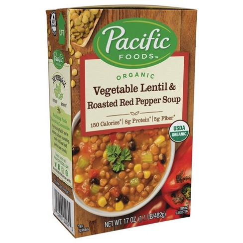 Pacific Foods Organic Vegetable Lentil & Roasted Red Pepper Soup - 17oz - image 1 of 4