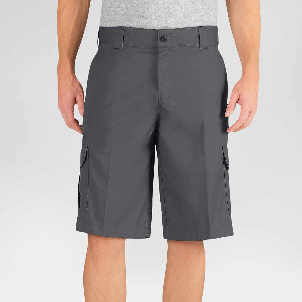 Dickies Men's Relaxed Fit Flex Twill 13 Cargo Shorts- Charcoal (Grey) 42