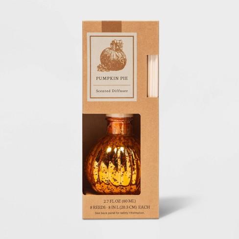 2.7 fl oz Mercury Glass Pumpkin Pie Oil Reed Diffuser - Threshold™ - image 1 of 2
