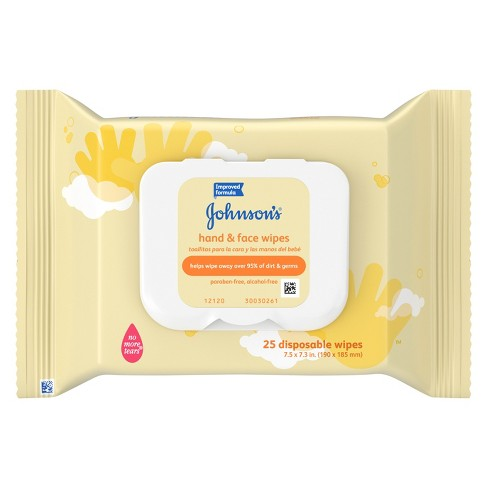 Johnson's Hand and Face Wipes - 25 ct - image 1 of 3