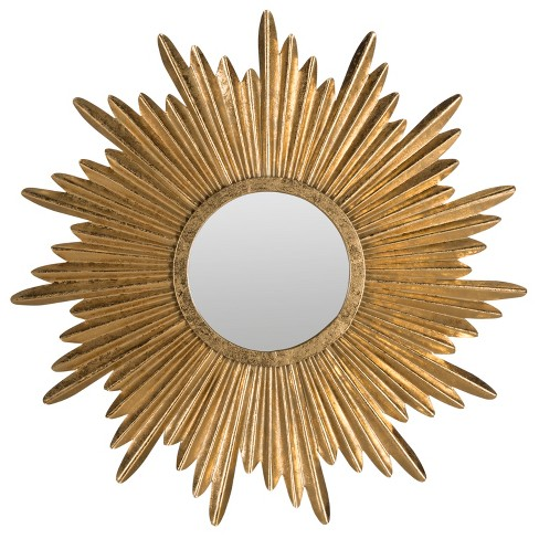 Sunburst Decorative Wall Mirror Gold - Safavieh - image 1 of 2