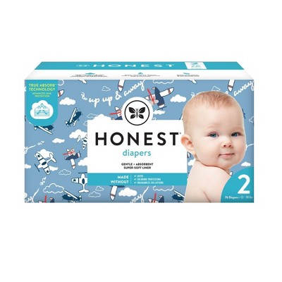 The Honest Company Disposable Diapers Up Up & Away Size 2 - 76ct