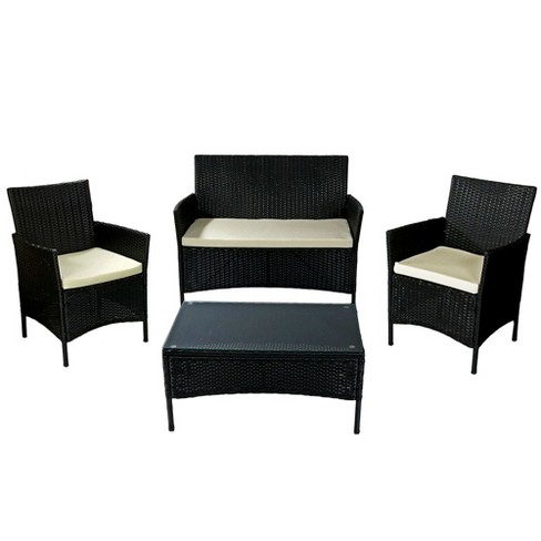 Adelaide 4pc Wicker Rattan Patio Furniture Set With Target