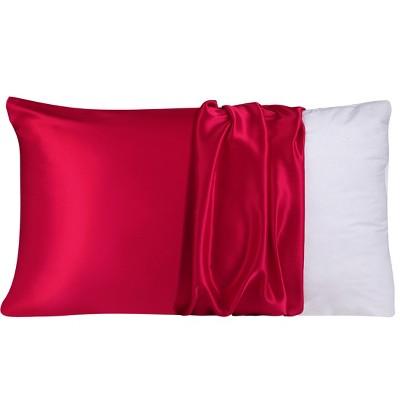 1 Pc Standard 100% Natural Pure Silk Pillowcase Red - PiccoCasa