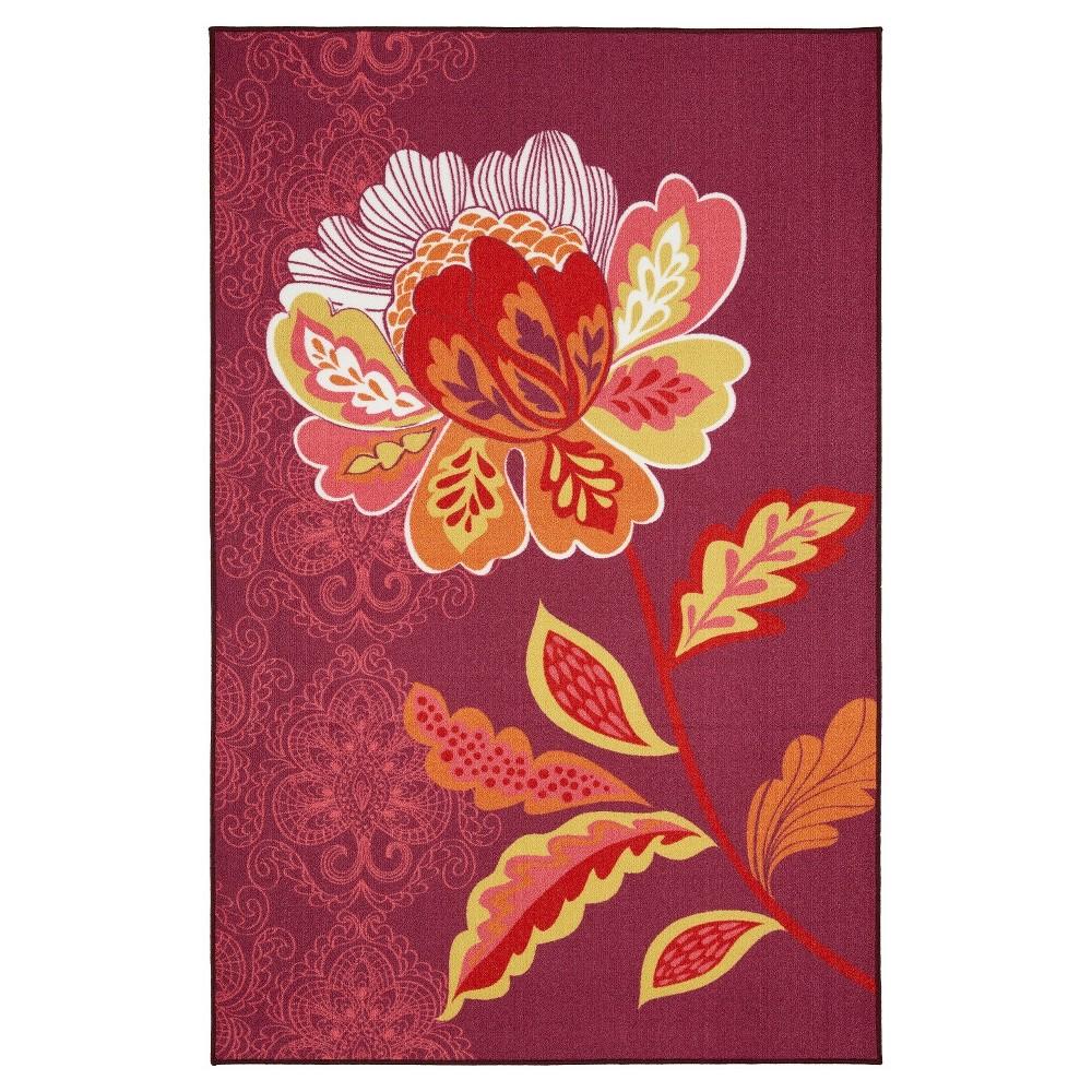 Image of 5'X8' Floral Area Rug Purple - Mohawk
