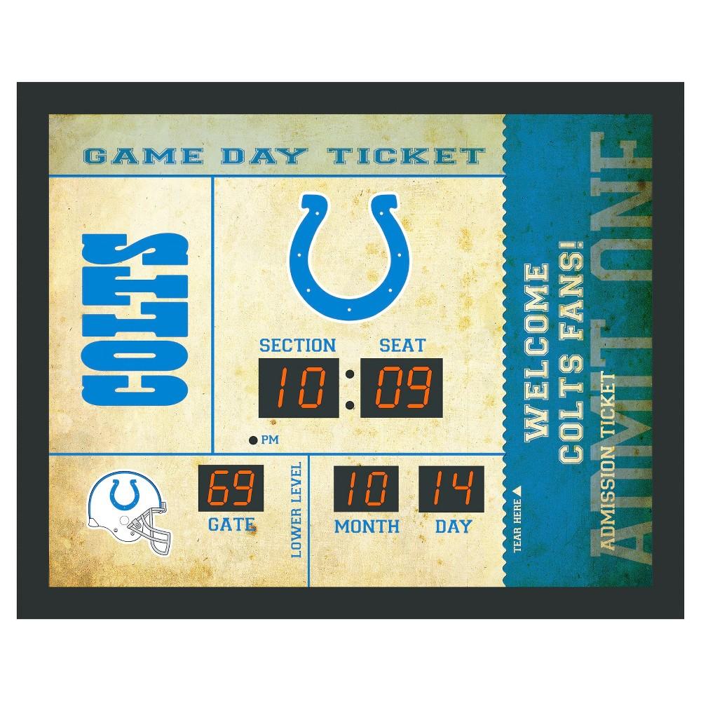 Indianapolis Colts Team Sports America Bluetooth Ticket Stub Scoreboard Wall Clock