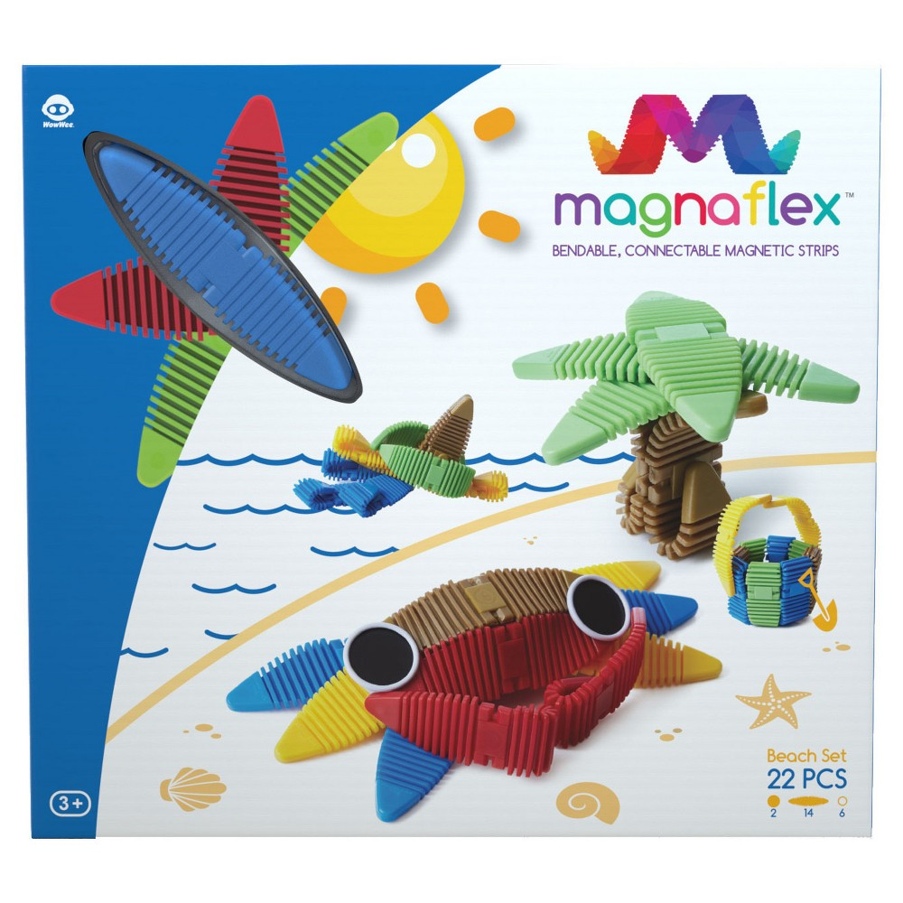 Magnaflex Fun in the Sun Set (22pcs) - Flexible Magnetic Construction Kit