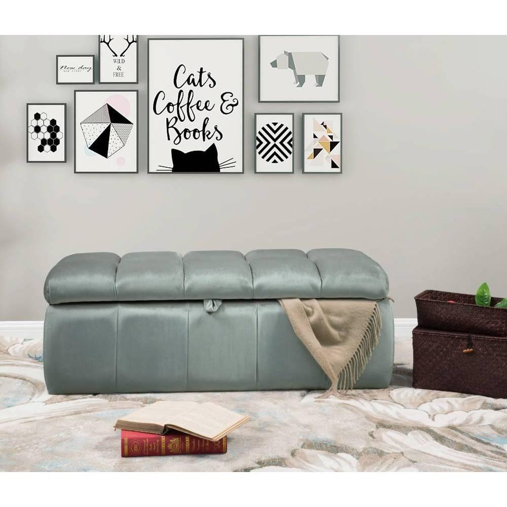 Fiesta Storage Ottoman Gray - Chic Home Design was $289.99 now $173.99 (40.0% off)