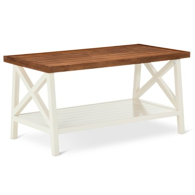 Charmant Larkspur Coffee Table   Off White