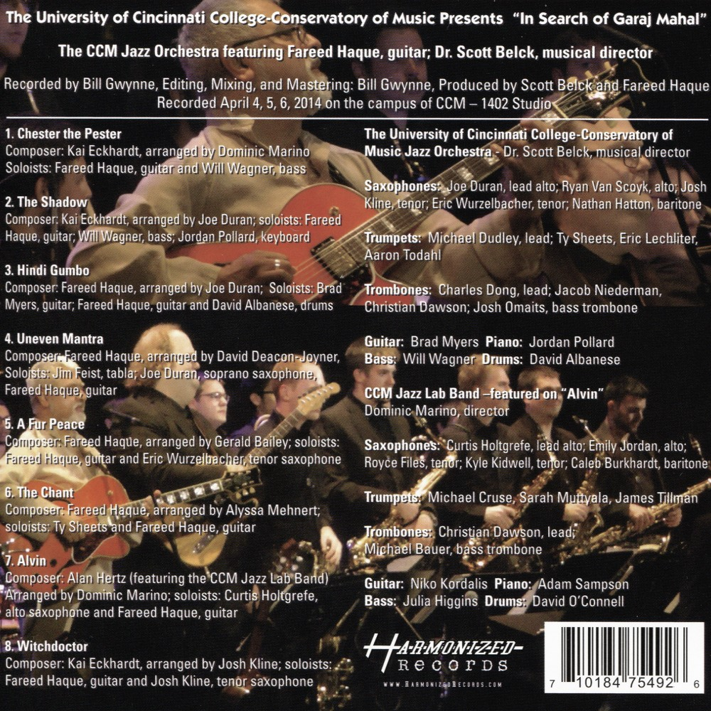 Ccm Jazz Orchestra - In Search Of Garaj Mahal (CD)