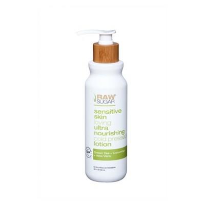Raw Sugar Green Tea + Cucumber + Aloe Vera Sensitive Skin Body Lotion - 18 fl oz