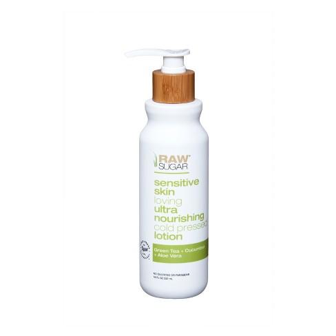 Raw Sugar Green Tea + Cucumber + Aloe Vera Sensitive Skin Body Lotion - 18 fl oz - image 1 of 4