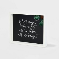 Silent Night Shadow Box Christmas Sign - Wondershop™